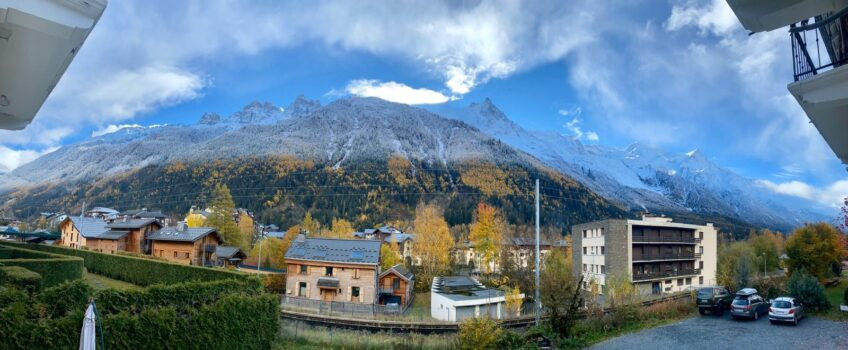 The view from our Clinic in Chamonix